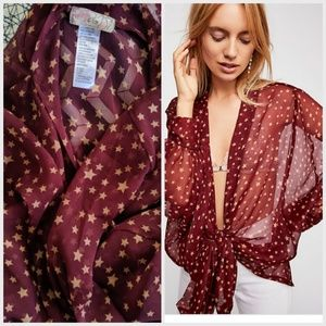 Free people star dazed front tie top